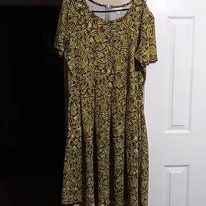 Lularoe size 3XL yellow & Grey dress